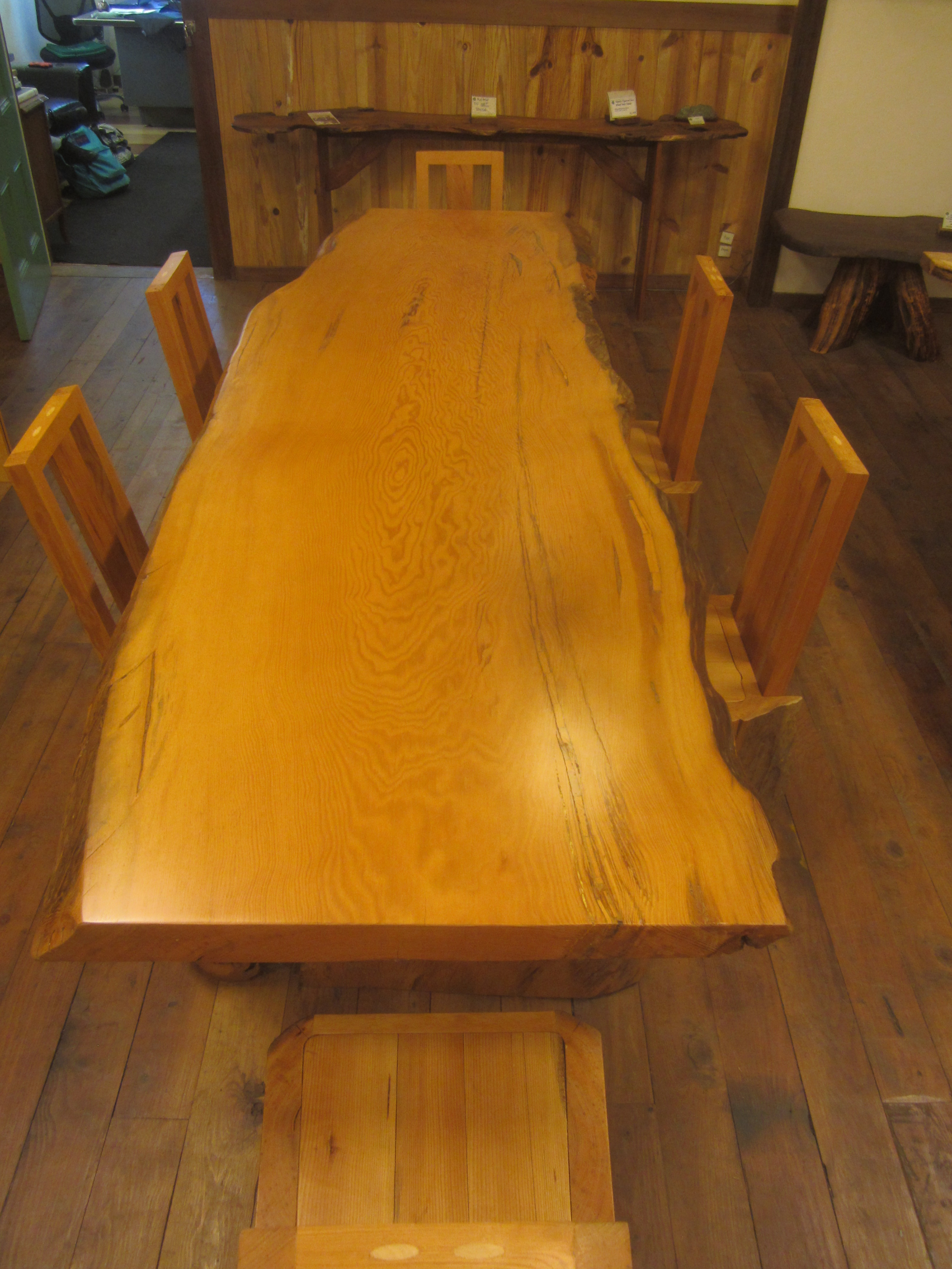 River Salvaged, Old Growth Douglas Fir Dining Table Table Dimensions 29.5H  X 30W X 104L