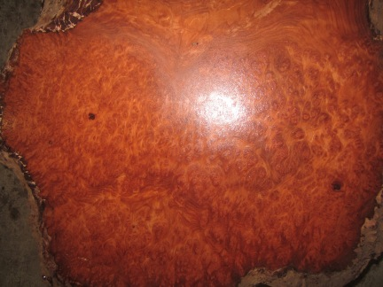 Sanded Redwood Lace Burl detail.