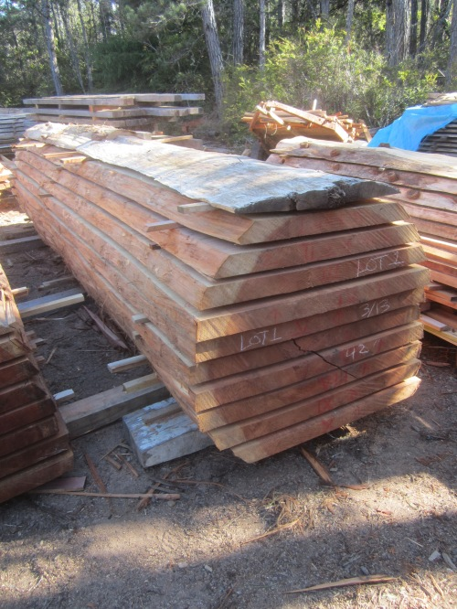 "Lot 1, Redwood, 42""W x 202""L, 2.75"" thick slabs.od log."
