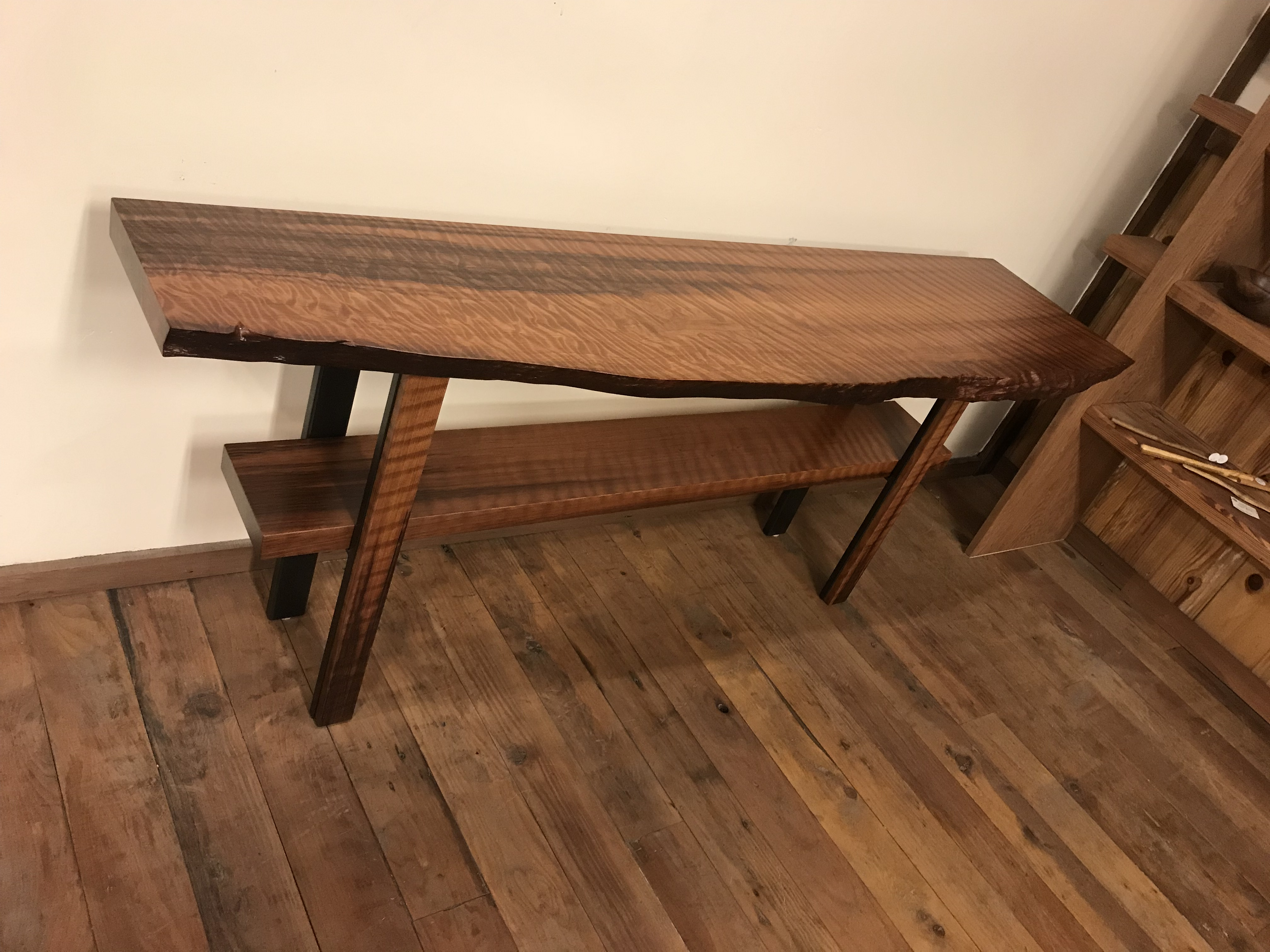 Curly Grain Old Growth Redwood Side Table Andersons Alternatives - Redwood side table